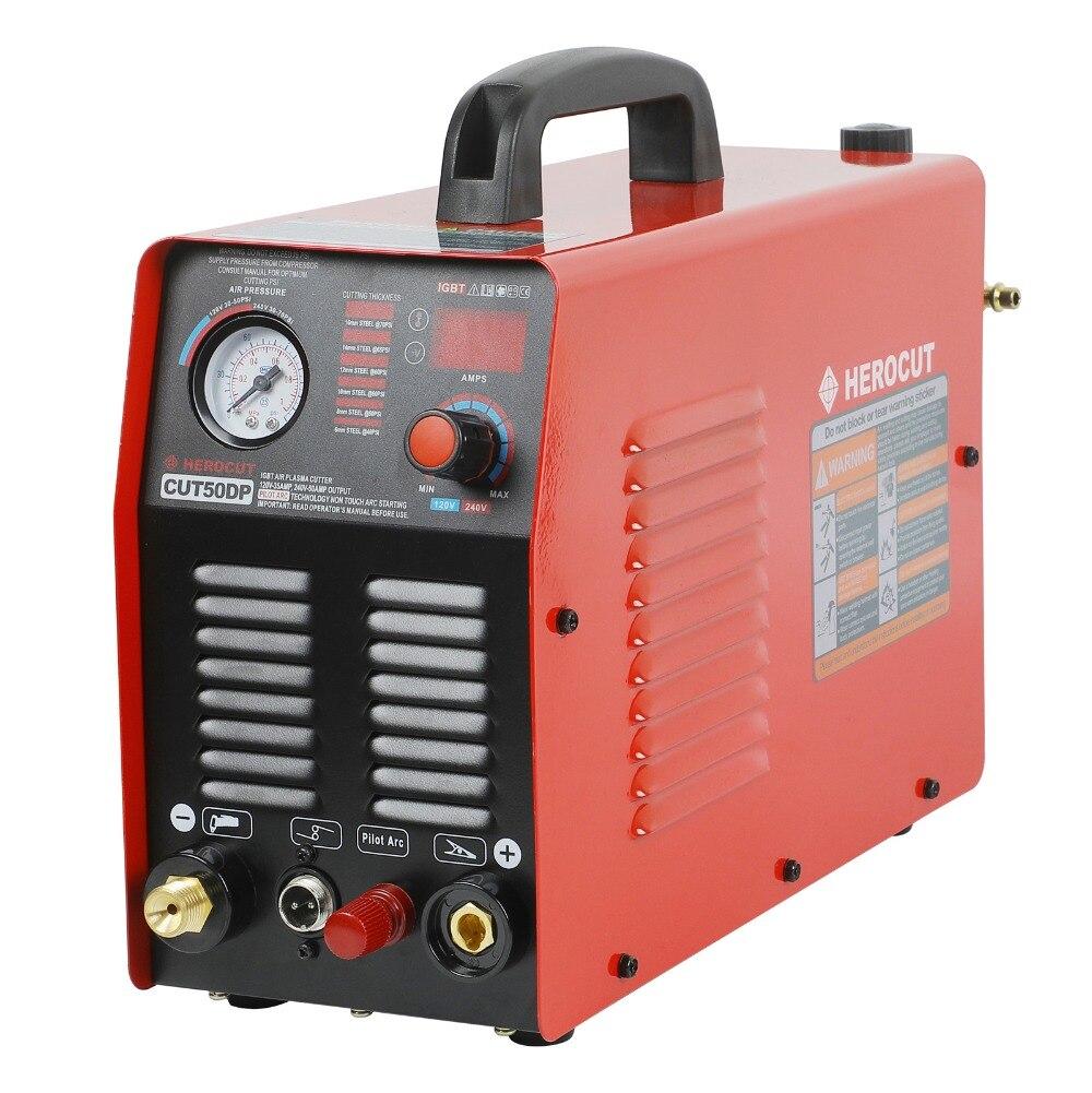 110/220 V Coupeur de Plasma IGBT Pilote Arc Plasma machine de découpe Plasma Cutter Cut50DP Double Tension 110/220 V