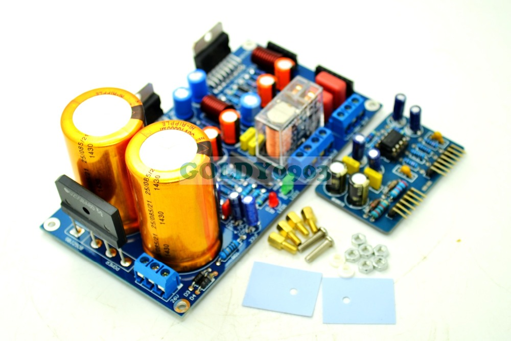 Finished TDA7293/TDA7294 Stereo 2.0 Power Amplifier Board With Sound Protect Kit +NE5532 Pre-amplifier потребительская электроника oem mono power amplifier 2 tda7294 80w mono power amplifier tda7294