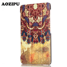 Luxurious Print Sensible Sleep Protecting Stand Cowl PU Leather-based Funda Case for Huawei MediaPad T2 7.zero Professional ( PLE-703L) 7inch Pill