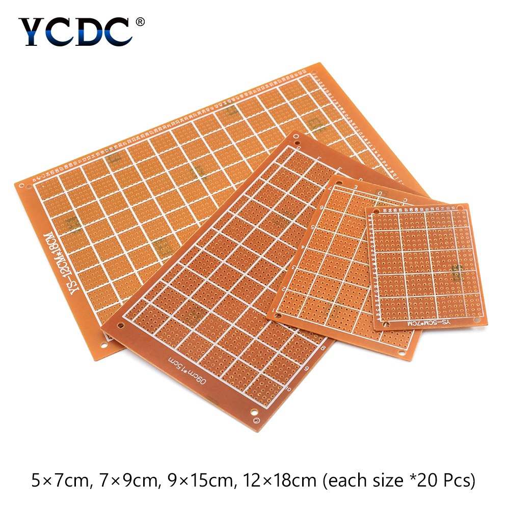 Prototype PCB Printed Circuit Board For DIY Electronic Test 4 Sizes Mix 80Pcs unfoiled mix sizes 1440pcs crystal
