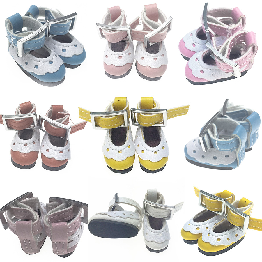 2.8cm New Assorted Colors One Pair pu Canvas Shoes For BJD Doll,Fashion Mini Toy Shoes 1/6 Bjd Shoes for blythe Doll Accessories colors fashion metal acrylic earrings color assorted 5 pair pack