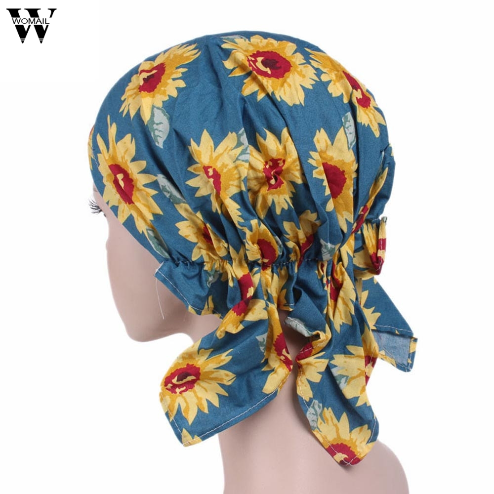Good Deal 2017 Fashion Women Winter Warm Caps Cotton Ruffle Cancer Chemo Hat Beanie Scarf Turban Head Wrap Cap Drop Shipping hot sale men canvas waist packs army green solid phone bag hip belt portable man wallet purse case pouch waist bags 2017