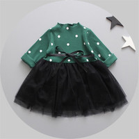 3p193 4pcs lot Baby Girls Dress 2017 New fashion Girls kids clothes toddler girl clothing wholesale baby boutique clothing