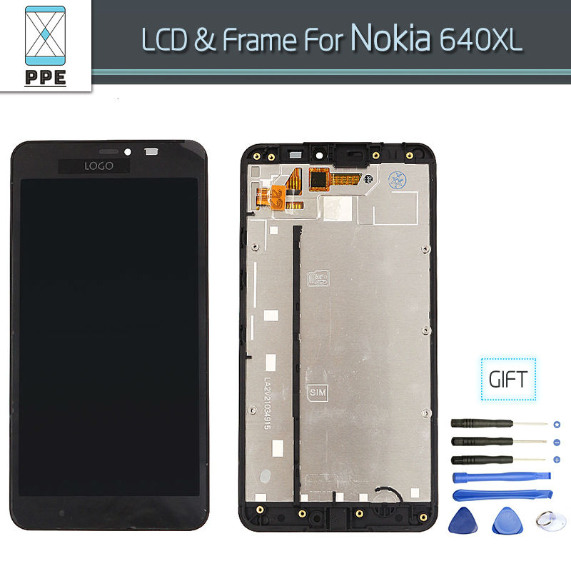 LCD Assembly for Microsoft Nokia Lumia 640 XL Lumia 640XL LCD Display Touch screen digitizer full Assembly original with frame