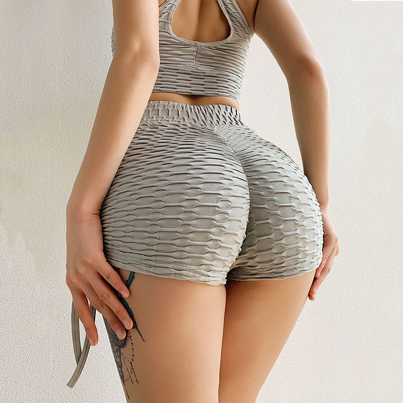 SALSPOR Women Summer Shorts Yoga Standard Fold Push Up Sport Shorts Sexy Bandage Hotpants Gym Fitness Jogging Short Leggings