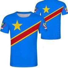 ZAIRE männliche jugend nach maß name anzahl zar casual t shirt nation flagge za kongo land französisch republik druck foto kleidung