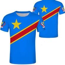 Zaire masculino juventude feito sob encomenda nome número zar casual t camisa nação bandeira za congo país república francesa imprimir foto roupas