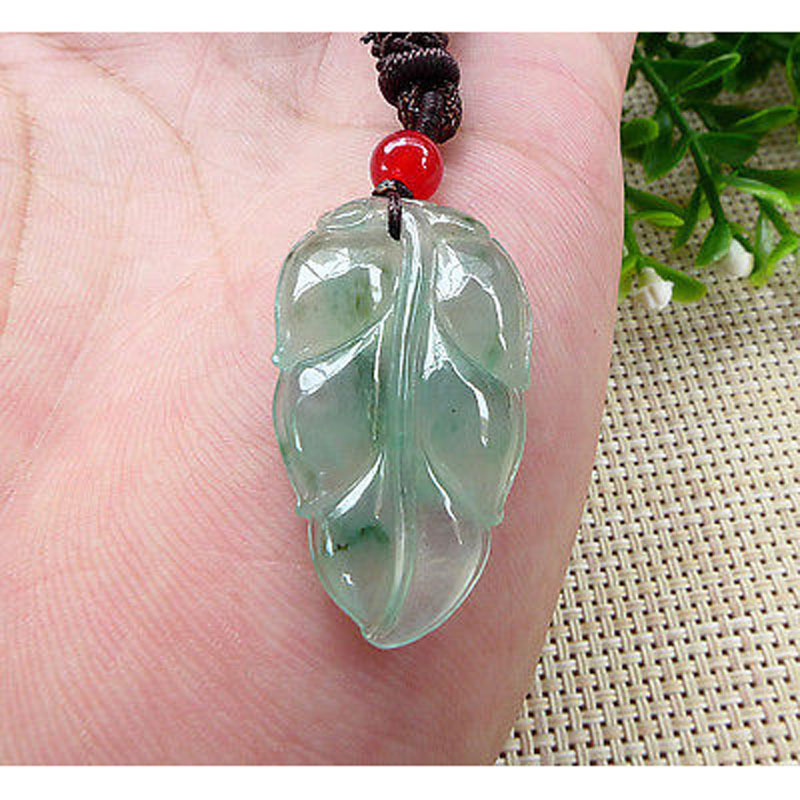 Certified 100% Natural Icy  LEAF Pendant