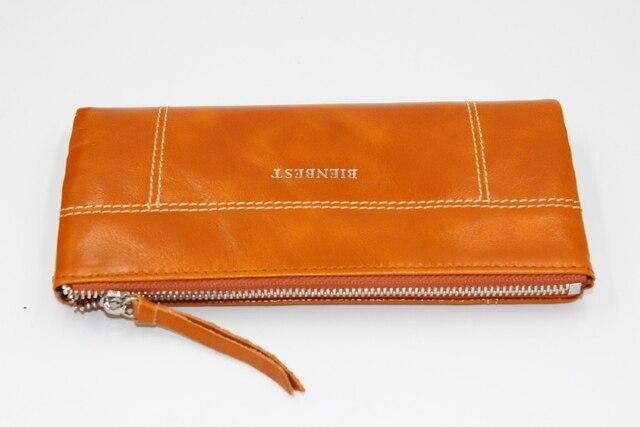 2016 Echtem Leder Frauen Brieftasche Modemarke Echt Rindledermappe Lange Design Kupplung Weiblichen Handtasche Mit