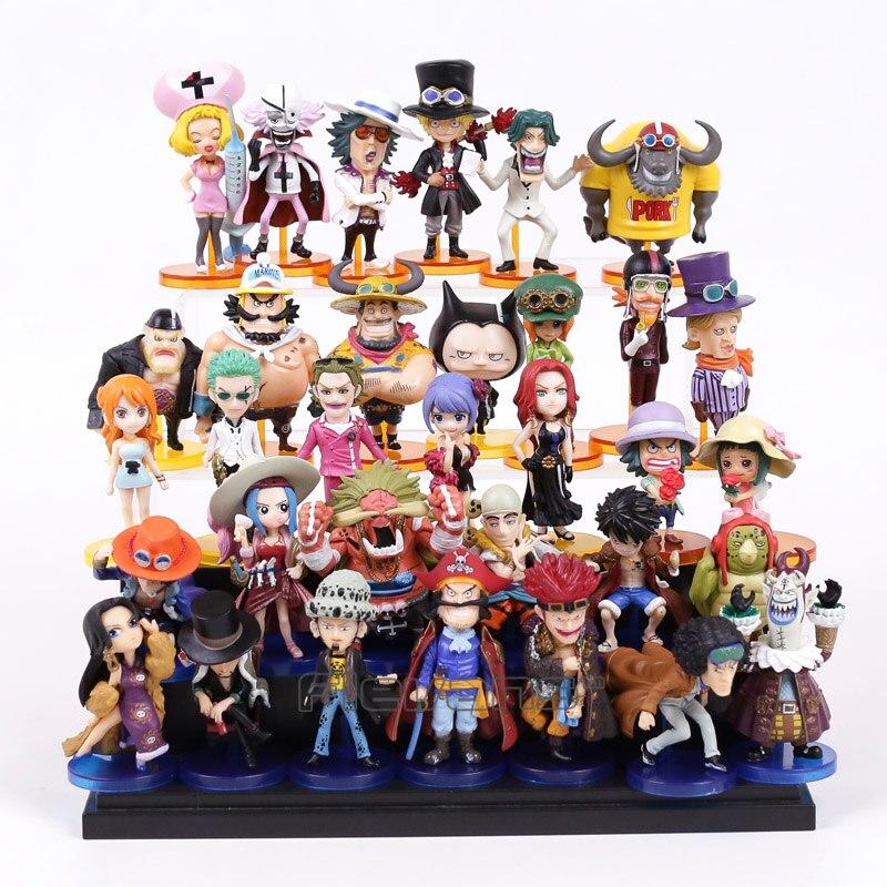 Anime One Piece PVC Figures Toys Set Sabo Zoro Nami Luffy Moria Ace Enel Oz Law Boa Hancock Rob Lucci Teach Eustass Kid Kuzan недорого