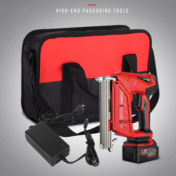 цена на Electric Nail Gun Stapler Nail Gun Woodworking Power Tools Straight Nail U Nail optional Electric Stapler F30/422/1022 3AH