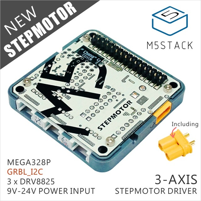 M5Stack New Arrival ! Stepmotor Module for Arduino ESP32 GRBL 12C Step-Motor MEGA328P similar as 12V DC Adapter & Fan Optional