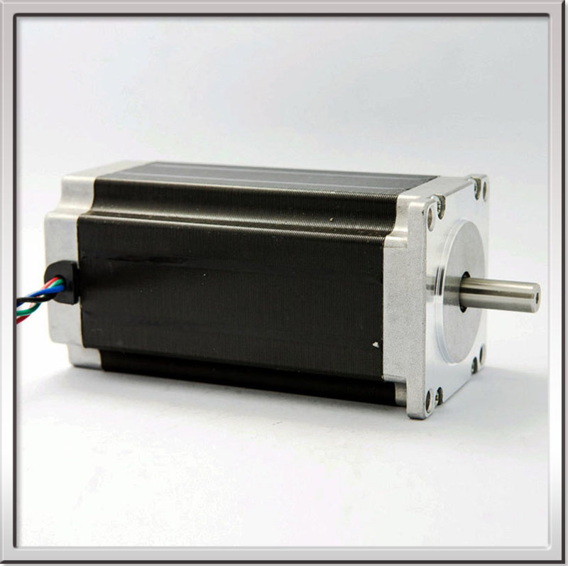 CE ROHS 1.8degree 2.8N.m 1200g.cm 10w 3A 57mm NEMA23 big 2 phase square hybrid stepper motor 8mm Shaft With Flat 425OZ-IN 4Lead  free shipping 42hs4017a4 1 8 degree 20mm 2phase hybrid stepper motor nema17 bipolar step motor single shaft 1 7a ce rohs