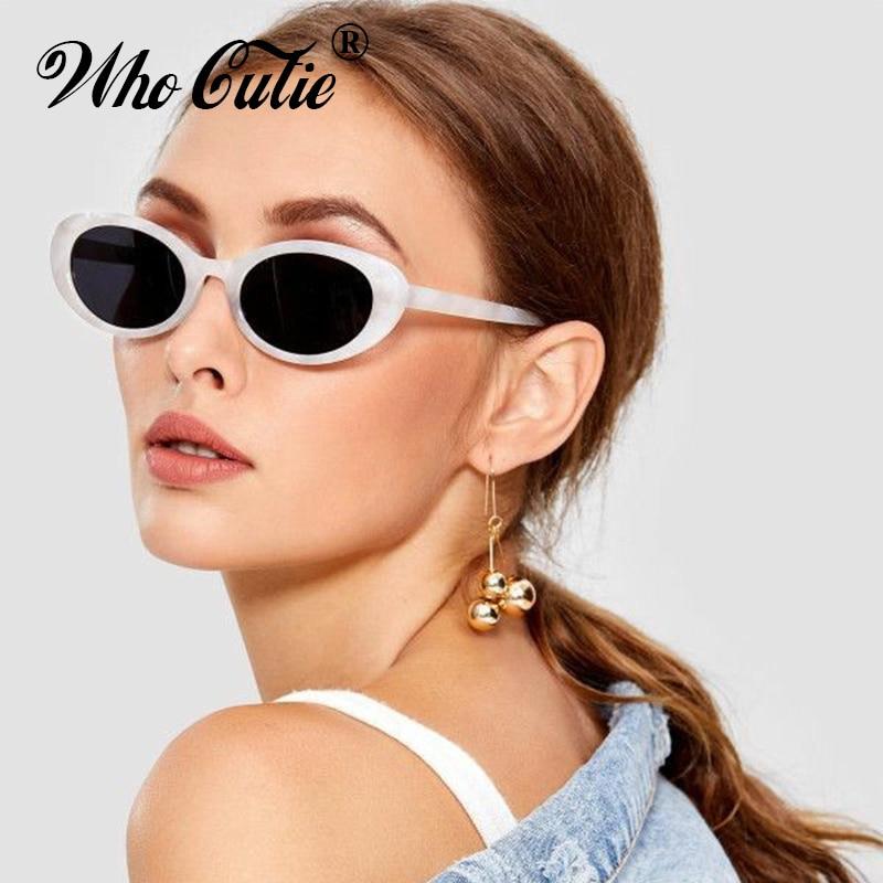 QUE GRACINHA 2018 Pequeno Oval 90 S Óculos De Sol Dos Homens Das Mulheres  Da Marca Designer de Retro Kurt Cobain Estreito Quadro Roxo Óculos de Sol  Shades ... 3698b79007