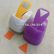 2 inch Triangle and Square Shaped hole punch set Puncher Crafts Scrapbooking DIY Paper Cutter Geometric shape Punches Free ship(China)