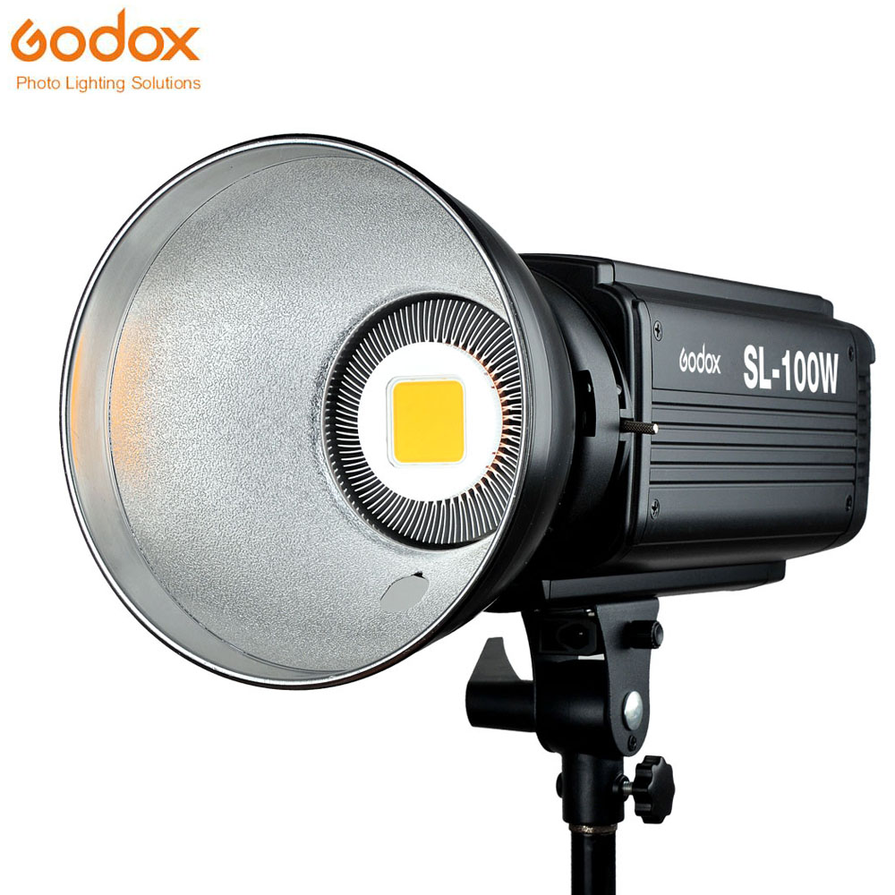 Godox SL-100W светодио дный видео 100 Вт белый светодио дный лампы Studio непрерывной Bowens фотографии освещения 220V 110V