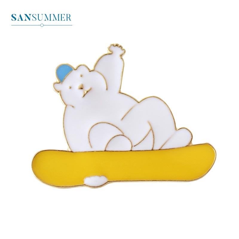 Brooches Jewelry Sets & More Trendy Ploar Bear Brooches Women Funny Charming Cute Tiny Animal Acrylic Badge Brooch Jewelry Brooch Pins Jewelry Accessories Quell Summer Thirst