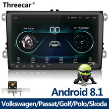 New 9 inch Car Multimedia Player Android 8 GPS Auto radio 2 Din USB For Volkswagen/VW/ Passat/POLO/GOLF/Skoda/Seat/Leon Radio(China)