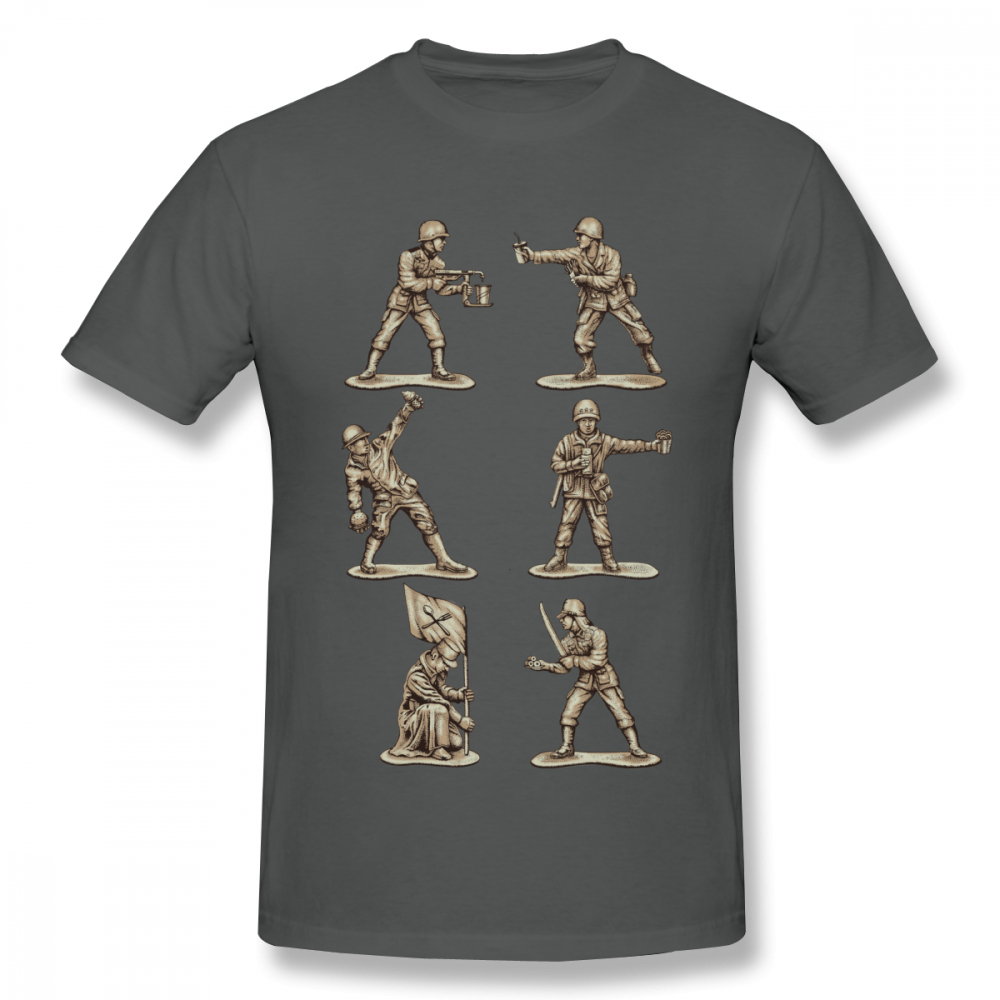 Graphic FASTFOOD SOLDIERS T Shirt For Man Geek Unique For Boy Round Neck Short Sleeve