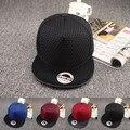 2016 новая Мода Чистый Цвет Сетки Бейсболка Открытый Случайный Snapback Шляпы Хип-Хоп Шапки Для Мужчин Женщин спортивные Хип-Хоп caps