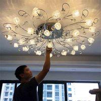 Creative Nordic Modern Minimalist Lamp MX8342 29 Crystal Remote Control G4 LED 5W*29 Lights Living Room Bedroom Ceiling Lights