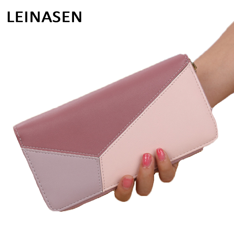 Famous Design Pink Zipper Wallets Lady Coin Pocket Purses Long Wallet Female Clutch Bag for Women Money Clutch Bag Feminina 30 2017 purse wallet big capacity female famous brand card holders cellphone pocket gifts for women money bag clutch passport bags