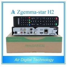 20 unids/lote Zgemma estrellas H2 combo con DVB-S2 sintonizador receptor de tv por satélite + DVB-T2/C set top box