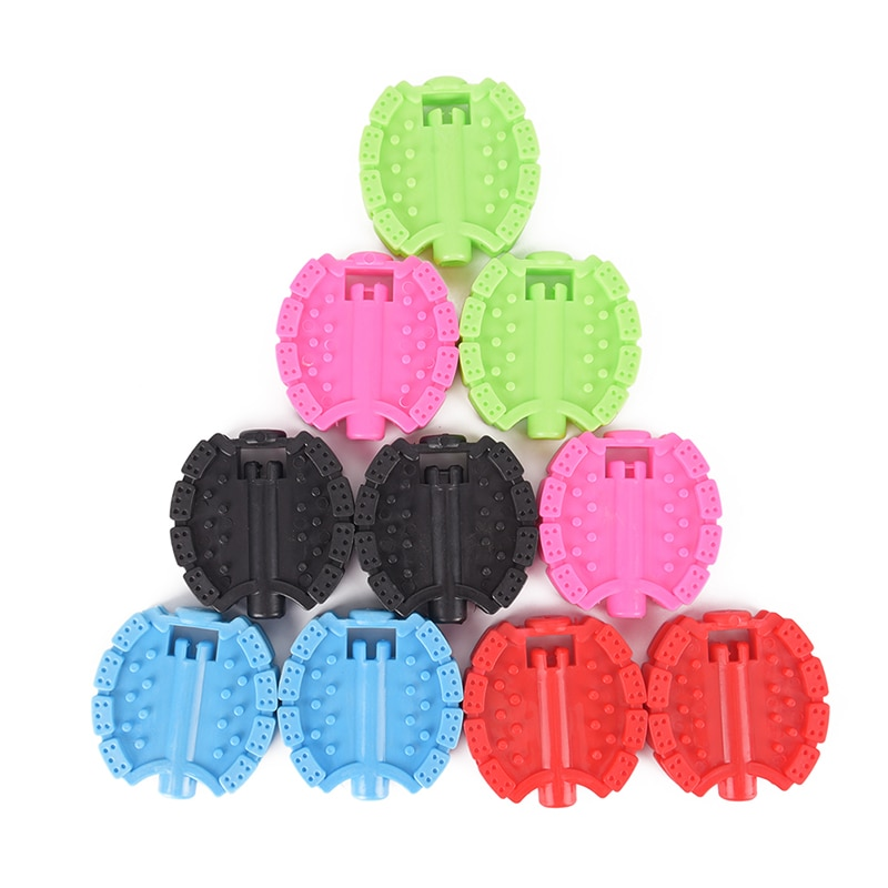 1 Pair Bicycle Pedal Children Bike Tricycle Replacement Non Slip Replacement Pedal Bicycle Accessories 5 Colors High Quality(China)