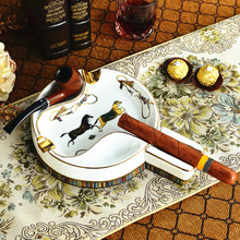 Cigar ashtray ceramic Tobacco Ashtrays products supplier Office decoration Gift for him