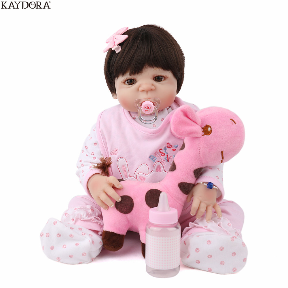 KAYDORA Reborn Baby Lifelike Newborn Girl Soft Silicone 22 inch Babe Boneca Lovely Princess Realistic Baby Dolls Toys For Girls KAYDORA Reborn Baby Lifelike Newborn Girl Soft Silicone 22 inch Babe Boneca Lovely Princess Realistic Baby Dolls Toys For Girls