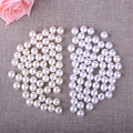 12mm Round Hole Beads 60pcs/lot Cheap Wholesale ABS Ivory Imitation Pearl Beads Ball For DIY Brooch Necklace Jewelry Making