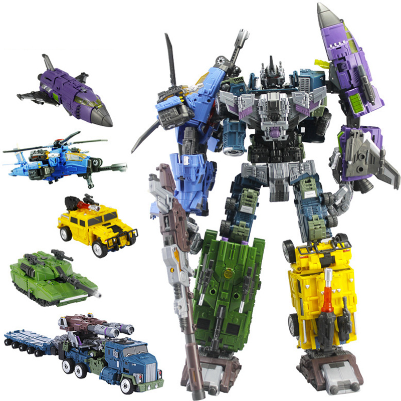 Transformation WB Style MBD Bruticus Members- ONSLAUGHT Blastoff Vortex Brawl Swindle 5IN1 TF Figure Collection Boy Robot Toys 1pcs bruticus onslaught swindle brawl classic toys for boys gift action figures without retail box