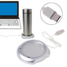 цена на Mini USB Electric Powered Drink Cup Warmer Plate Pad Office and Home Use Fashion