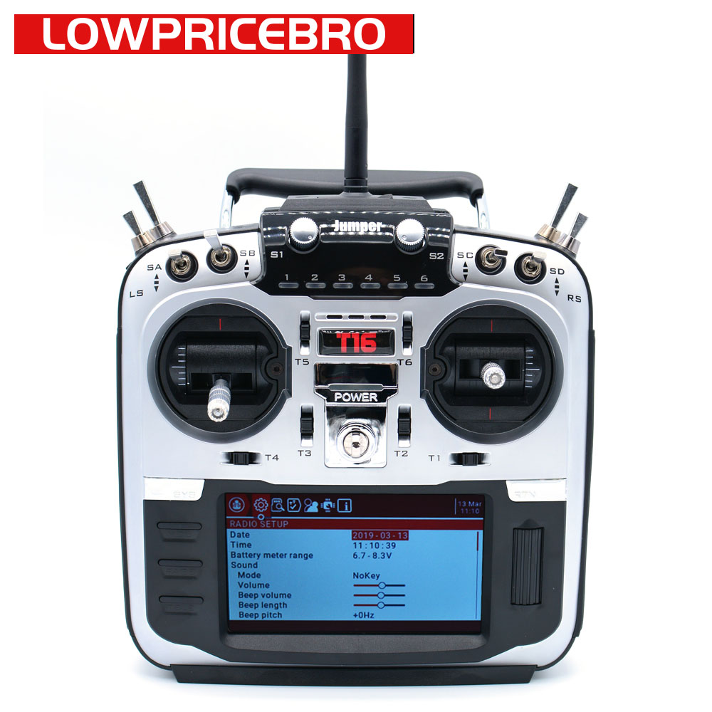 Jumper T16 2 4G 16CH 4 3 LCD Open tx Source Multi protocol Radio RC Transmitter