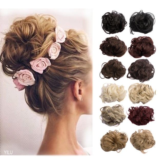 1pc 35g Curl Synthetic Hair Bun Plaited Wrap Elastic Hair