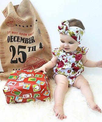 2017-Hot-Sale-Newborn-Baby-Girls-Clothes-Flower-Jumpsuit-Romper-Headband-Outfits-3