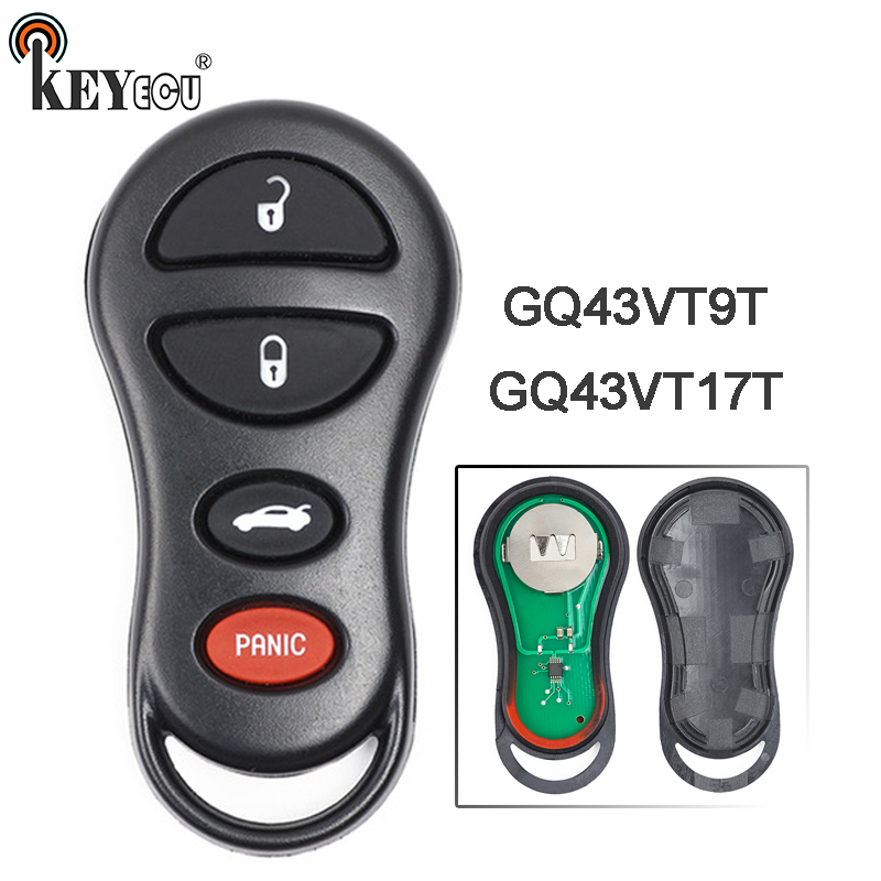 US $15 54 8% OFF|KEYECU 1x / 3x GQ43VT9T GQ43VT17T 3+1 4 Button Remote Key  Fob for Chrysler Concorde Neon, for Dodge Interpid Neon Plymouth Neon-in