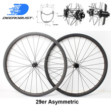DT 350S Asymmetric 29er 29 30mm x 33mm MTB Trail Carbon Wheels Tubeless Clincher Hookless Mountain Bicycle Wheel set 28 Holes ican carbon road tt bike wheel 86mm clincher tubeless ready ud matte with ican paint rim 27mm width wheels page 8