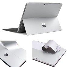 Для microsoft Surface Pro 4 наклейки для ноутбука анти-царапина Серебряный съемный пузырь бесплатно тонкая наклейка ноутбук наклейка (2015 +)