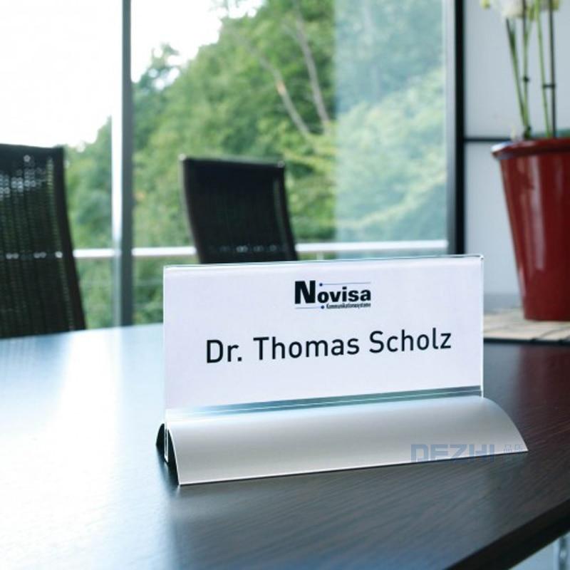DEZHI-Meeting Room Desktop Holders Vertical/Horizontal Metal Table Display 210*297 Exihibition Restaurant Menu Price Card Holder