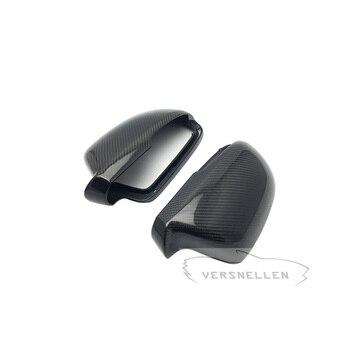 الكربون مرآة قبعات OEM الإعداد غطاء مرآة جانبية ل سكودا اوكتافيا 2012 رائع 2009 1: 1 استبدال