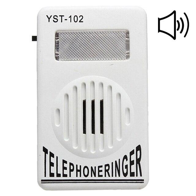 95dB Extra-fuerte teléfono anillo sonando amplificador estroboscópica luz intermitente de Bell Ringer sonido teléfono timbre