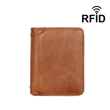 Slim Leather ID/Credit Card Holder Bifold Front Pocket Wallet with RFID Blocking Business Card Holder 100% Genuine Leather Purse цены