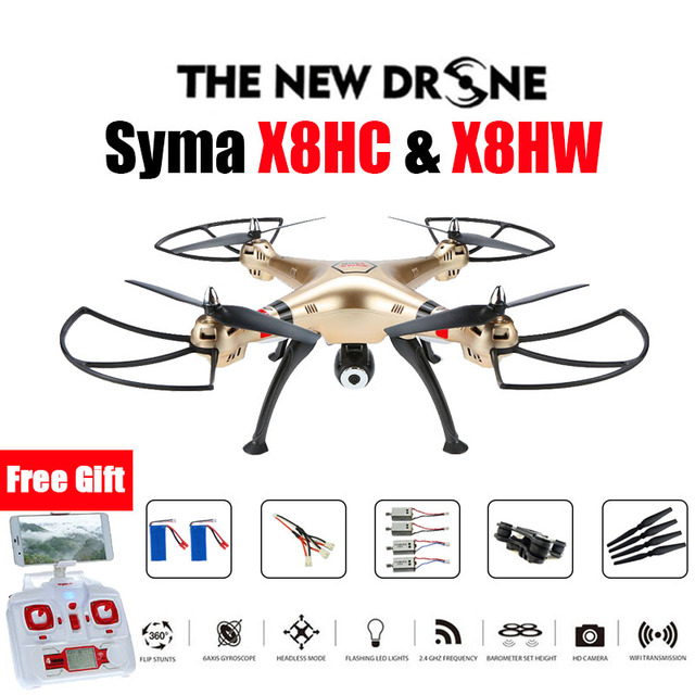 SYMA X8HW & X8HC FPV RC Drone 6-Axis Professional  Quadcopter Altitude Hold Headless Mode With 2MP Or WiFi Camera RC Helicopter
