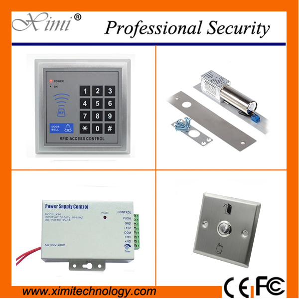 Cheap price 500 users smart RFID card door access control single door without software 125KHZ EM card access control sigle door access control with keypad em card access control system simple door access control without software em lock
