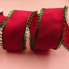 Ribbon. Wired Tree-Decoration Taffeta Bow-Wedding Gift Green Wreath N1067 38mm-X-25yards
