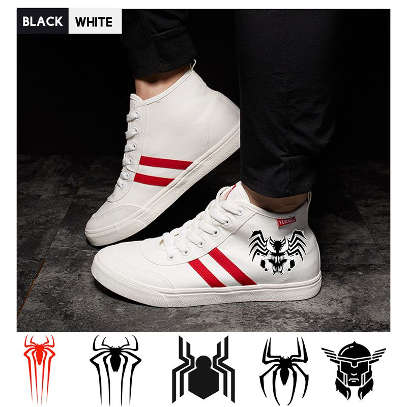 Marvel Superhero Venom/thor/spider-man Print Shoes High Heel Double-layer Canvas College Personalise Fashion A193291 Aromatic Character And Agreeable Taste Men's Shoes