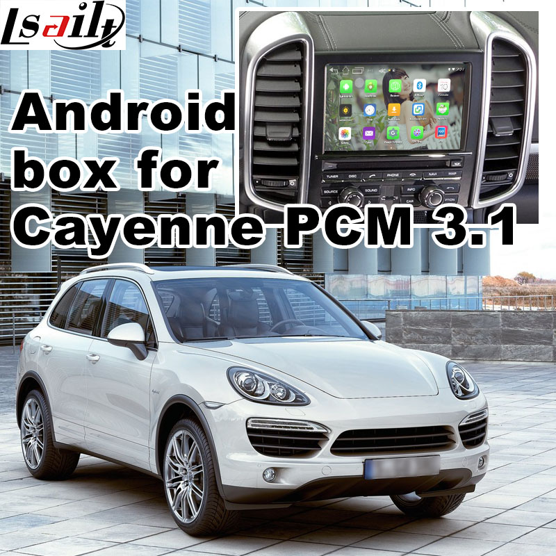 Android 6 0 GPS navigation box for Porsche Cayenne PCM 3 1 video interface box mirror