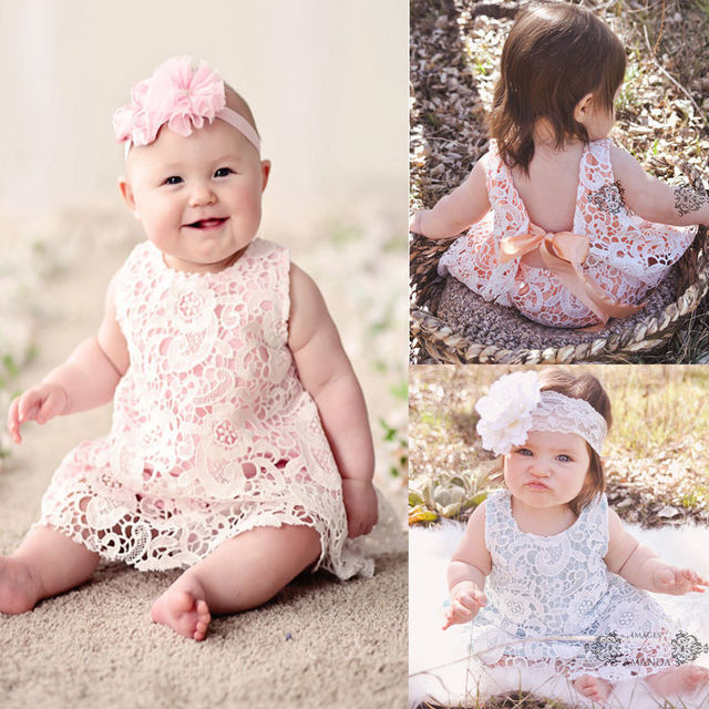 Neue Baby Mädchen Kleidung Sommer Sunsuit Outfit Spitze Backless ...