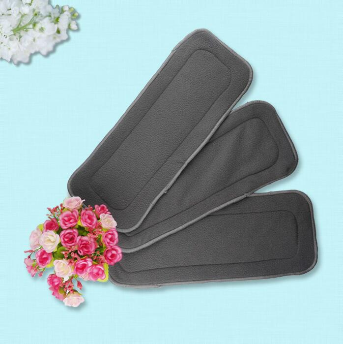 Reusable Baby Cloth Diaper 4 layers Washable fast dry Nappy Natural Bamboo Charcoal Inserts Diaper Soft Baby Care Product 1Pcs